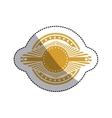 sticker ochre stamp abstract art deco emblem vector image vector image
