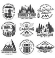 summer camp concept for shirt or patch vector image vector image