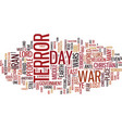 terror the lost war text background word cloud vector image vector image