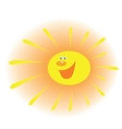 The stylized image of a smiling sun with rays vector image vector image