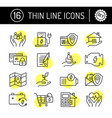 thin line editable stroke icons set vector image vector image