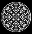 tribal aztec mandala pattern bohemian vector image vector image