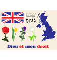 United Kingdom symbols vector image