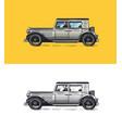 vintage car for service signboard old transport vector image vector image