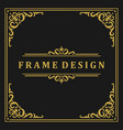 vintage frame border ornament and vignettes swirls vector image