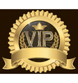 Vip gold ribbon label vector | Price: 1 Credit (USD $1)