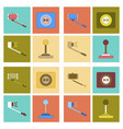 assembly flat icon smartphone selfie stick game vector image