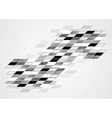 Abstract black white tech geometric corporate vector image vector image