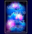 abstract glitched poster design template vector image