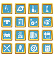 auto repair icons set sapphirine square vector image vector image