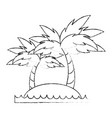 beach and palms vector image vector image