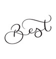 best word on white background hand drawn vector image vector image