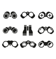 Binocular icons black set vector image