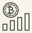 bitcoin chart line icon crypto graph vector image