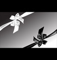 black and white bow vector image vector image