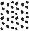 black spots seamless pattern vector image