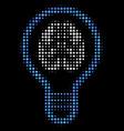 brain bulb halftone icon vector image