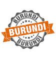 burundi round ribbon seal vector image vector image