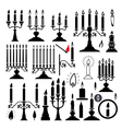 candlesticks and candles vector image vector image