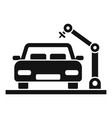 car factory production icon simple style vector image vector image