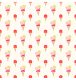 Colorful flat style ice cream seamless pattern vector image vector image