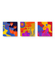 colorful set abstract cards with tropical vector image vector image
