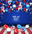 Colorful Template for American Independence Day vector image vector image