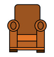 comfortable couch isolated icon vector image vector image