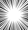 comic speed radial background vector image