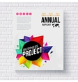 Corporate Identity Template with Artistic Graphics vector image vector image