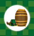 elf hat and shoes with coins st patricks day vector image