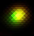 green brown yellow black rows of triangles vector image vector image