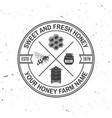 honey farm badge concept for shirt print vector image vector image