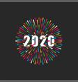 inscription number 2020 logo vector image vector image