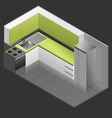 Isometric - Design To Small Kitchens vector image vector image
