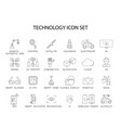 line icons set technology pack vector image vector image
