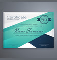 minimal cirtificate design with geometric shapes vector image vector image