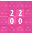 modern calendar template office paper cut design vector image vector image