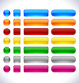 Modern web buttons vector image