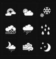nine flat modern weather icons vector image vector image