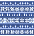 nordic christmas seamless pattern with people vector image