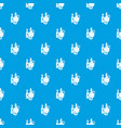 organic eco food pattern seamless blue vector image vector image