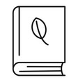phytotherapy book icon outline style vector image vector image
