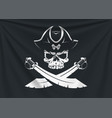 pirate icon flag vector image vector image