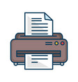 printer machine isolated icon vector image vector image