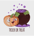 pumpkin potion halloween cartoon set vector image vector image