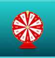 realistic wheel fortune with prizes isolated vector image vector image