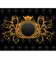 retro frame with heraldic crown vector image vector image