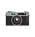 retro photo slr camera on a vector image vector image