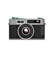 retro photo slr camera on a vector image